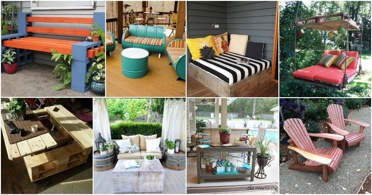 Backyard Furniture Part - 42: 80 Brilliant DIY Backyard Furniture Ideas That Will Give Your Outdoors  Character - DIY U0026 Crafts