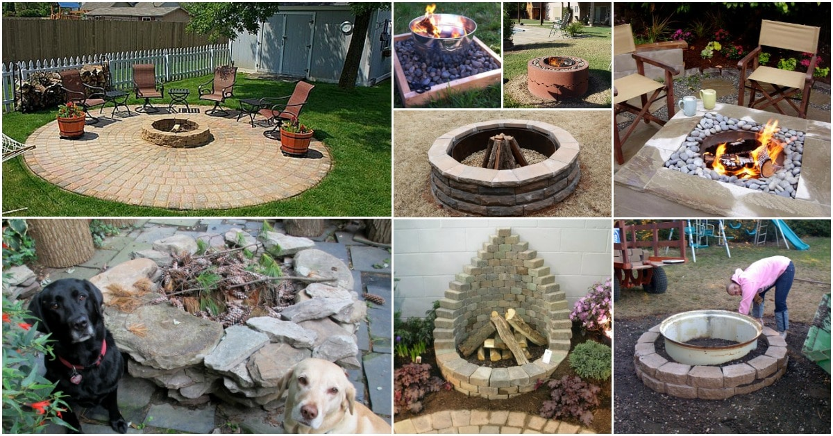 Do It Yourself Home Decorating Ideas: 30 Brilliantly Easy DIY Fire Pits To Enhance Your Outdoors