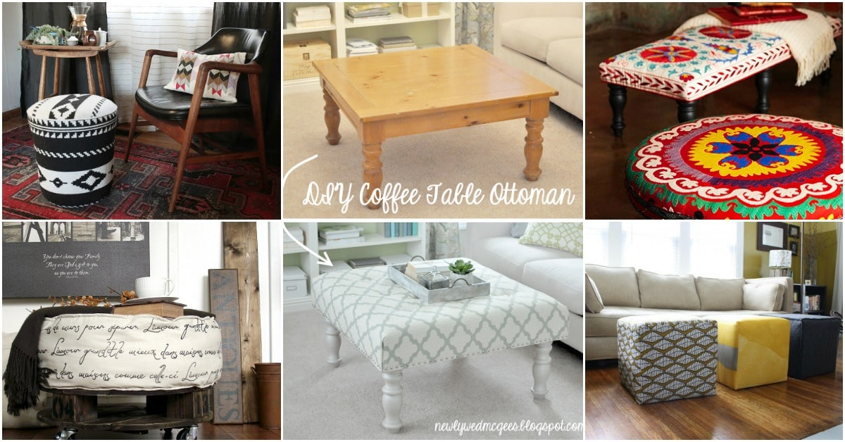 20 Fabulously Decorative Ottomans You Can Easily Make Yourself   DIY U0026  Crafts