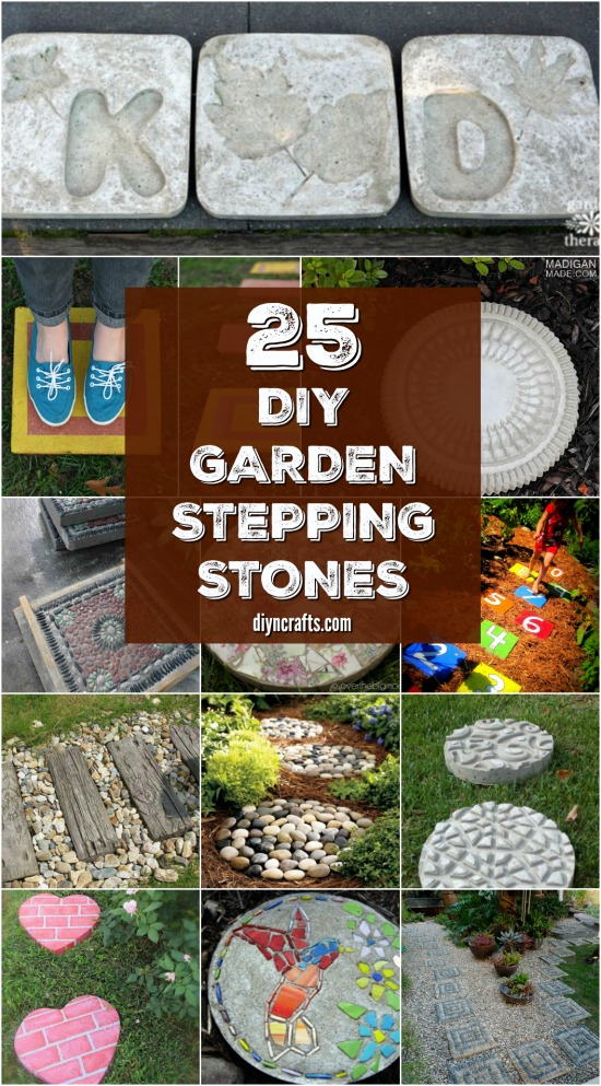 25 Top Garden Stepping Stone Ideas For A Beautiful Walkway - Curated and published by DIYnCrafts