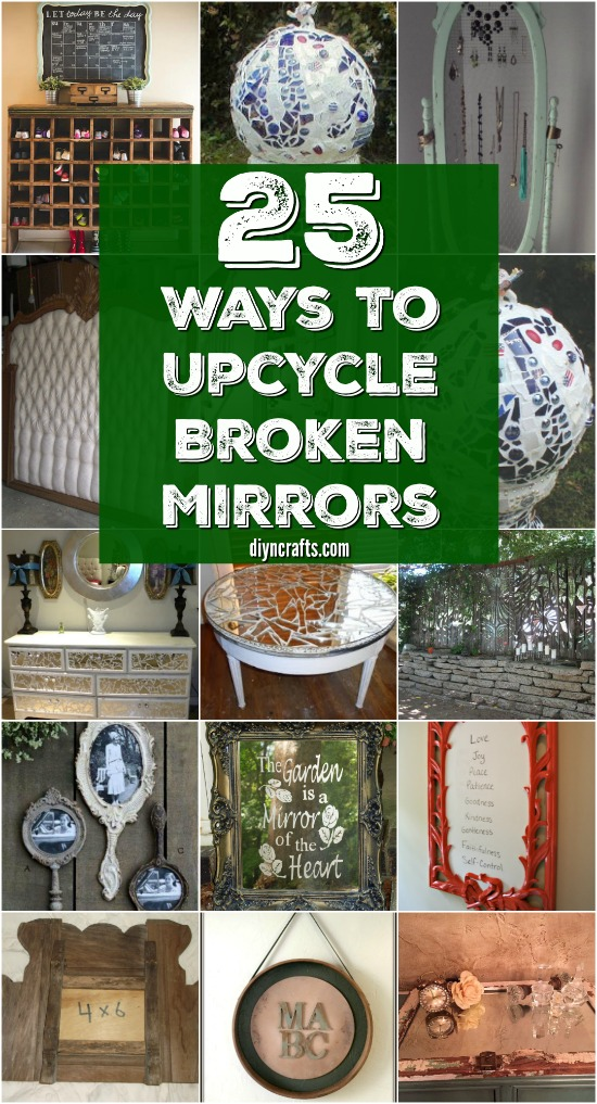 20 Brilliantly Crafty Diy Ideas To Upcycle Broken Mirrors