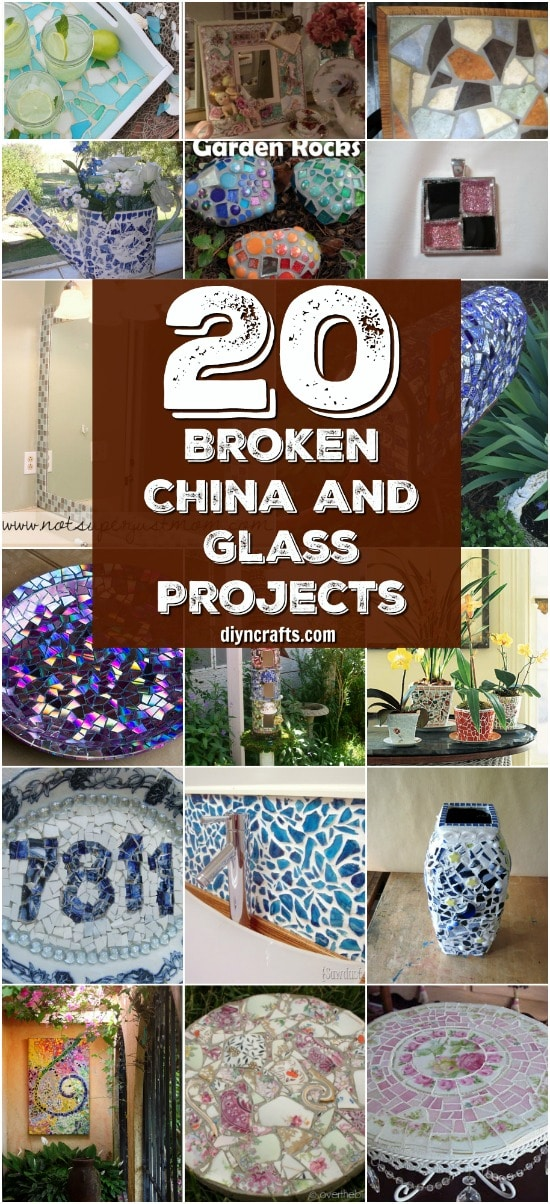 20 Brilliant Repurposing Ideas and Projects For Broken China And Other Glass {With tutorial links}
