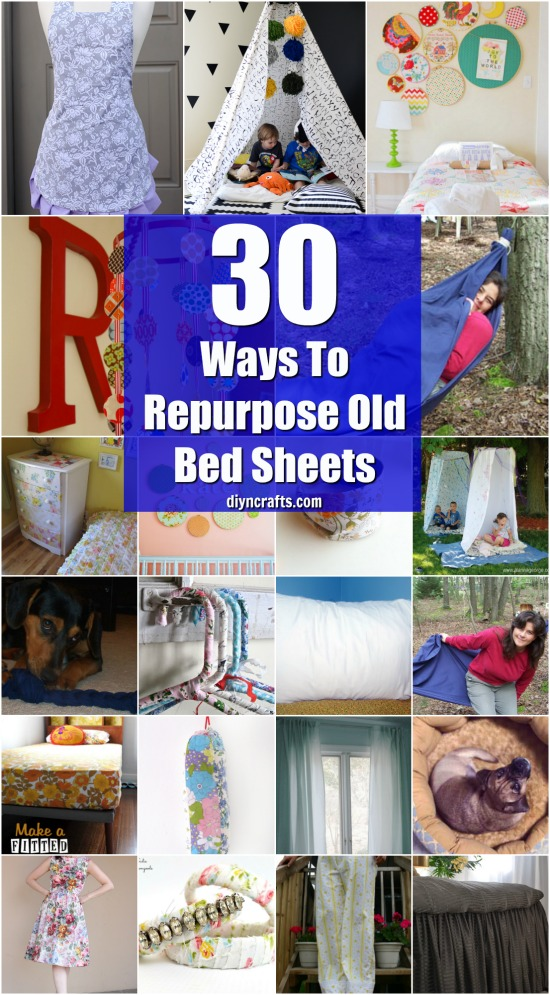 30 Creative And Crafty Ways To Repurpose Old Bed Sheets