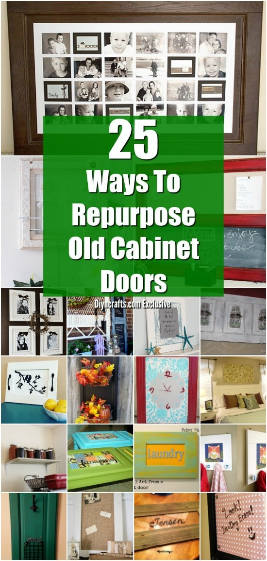 25 Diy Projects Made From Old Cabinet Doors It S Time To Repurpose