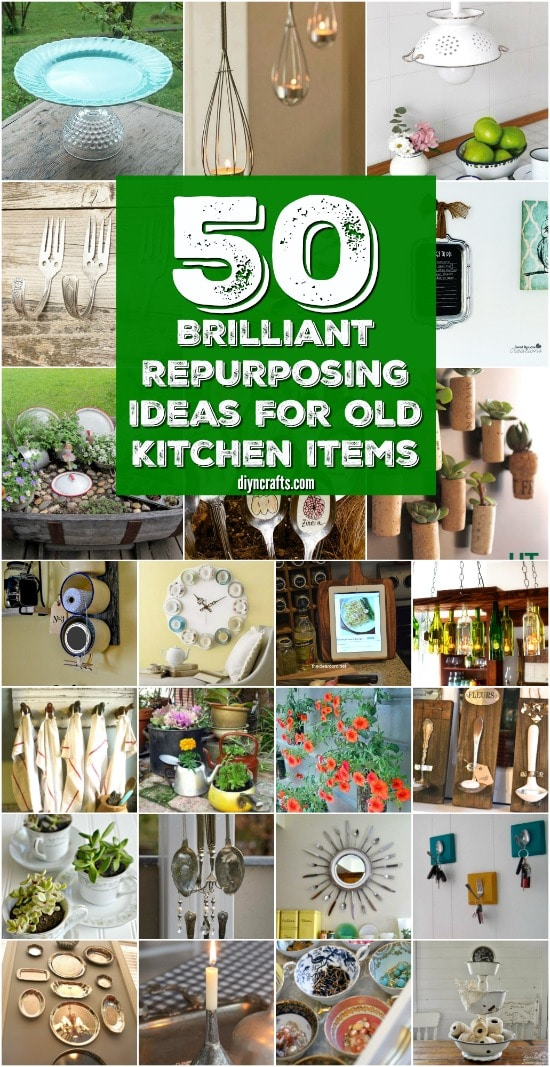 50 Brilliant Repurposing Ideas To Turn Old Kitchen Items Into Exciting New Things {With tutorial links}