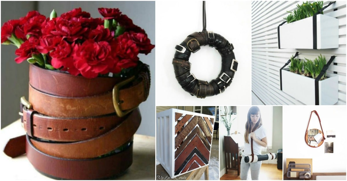 25 Creative Ways To Repurpose And Reuse Old Leather Belts