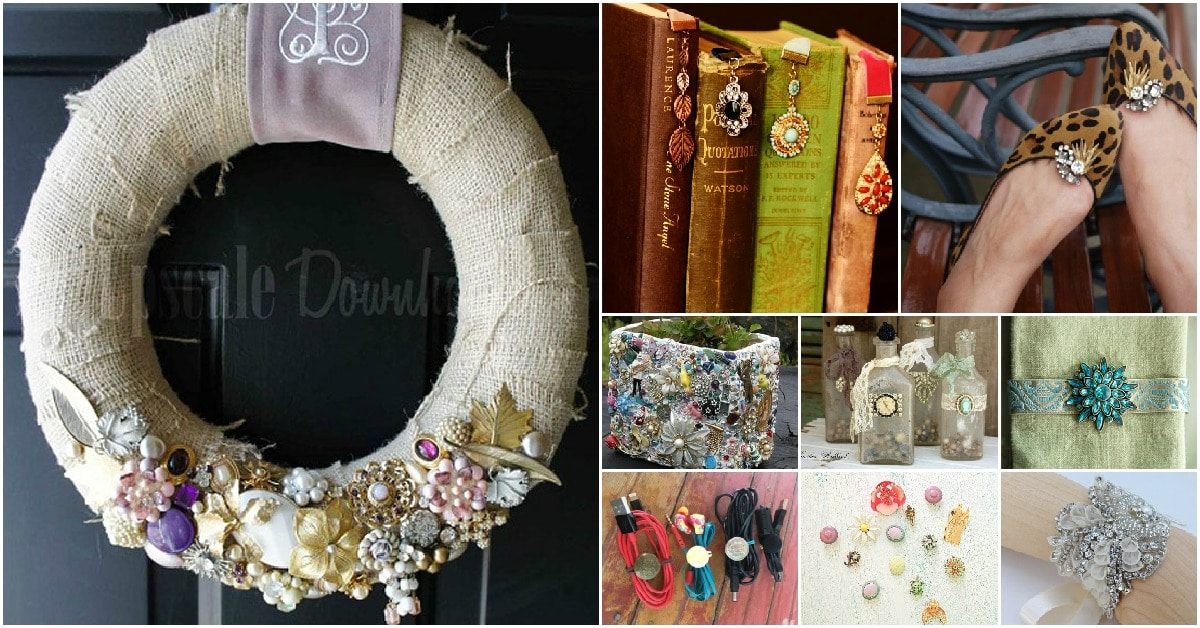 25 Amazingly Creative Ways To Repurpose Vintage Jewelry