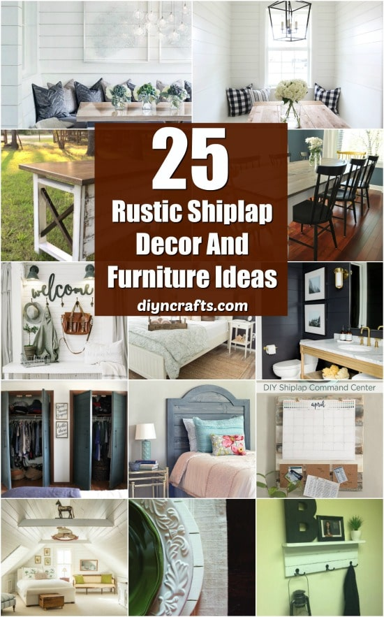 59 Incredibly Simple Rustic Décor Ideas That Can Make Your: 25 Rustic Shiplap Decor And Furniture Ideas For A