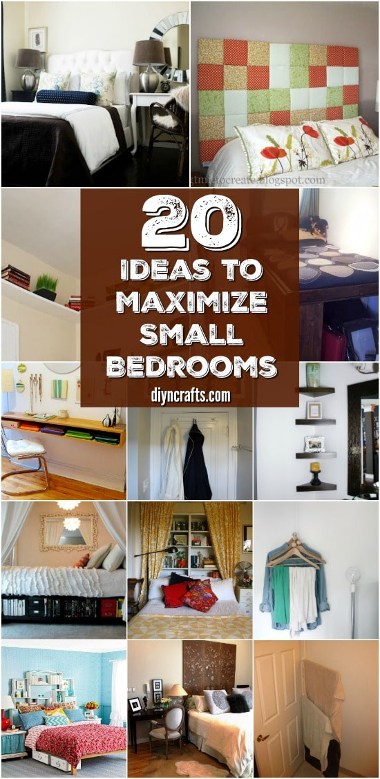 20 Space Saving Ideas and Organizing Projects to Maximize Your Small Bedroom {Brilliant Ideas}