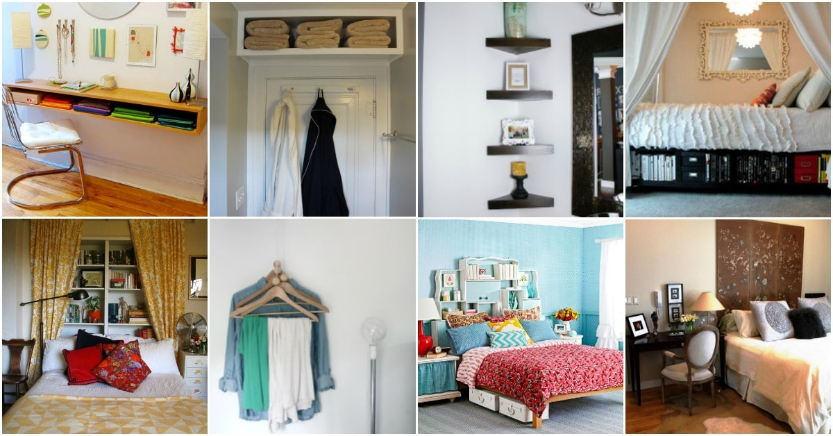 20 Space Saving Ideas And Organizing Projects To Maximize Your Small Bedroom Page 2 Of 2 Diy
