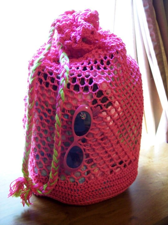 Roomy Crochet Beach Bag