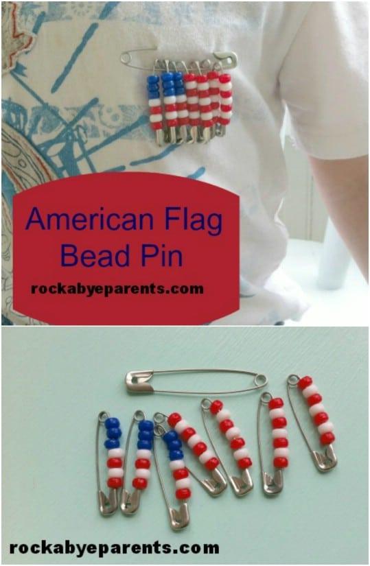 DIY American Flag Pin
