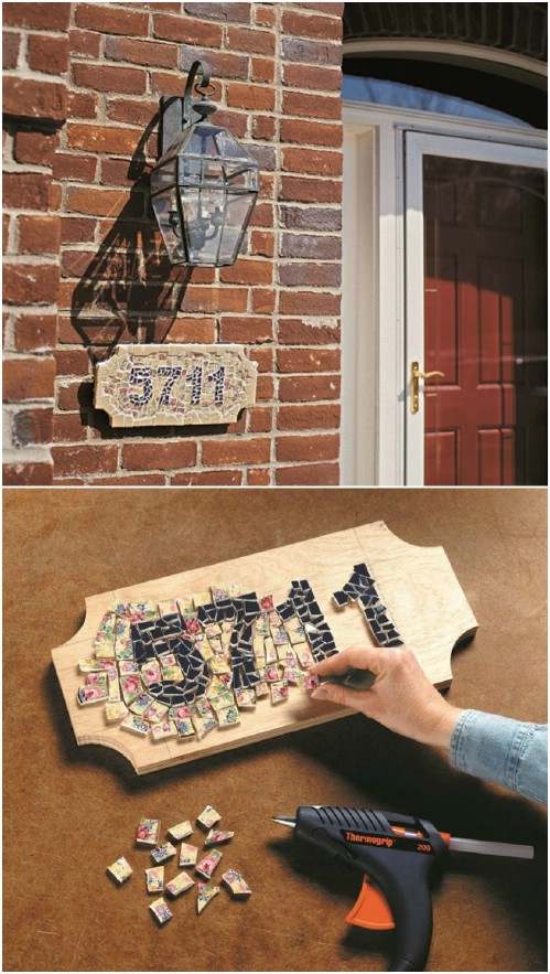 Custom Mosaic Address Marker