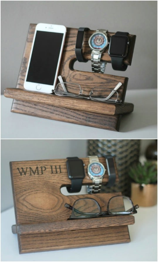 Repurposed Oak Nightstand Valet