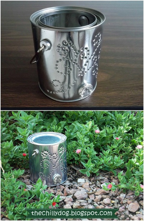 Upcycled Paint Can Fairy Luminary