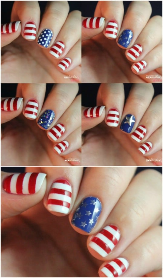 DIY Independence Day Nails