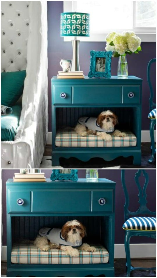 DIY Pet Bed Nightstand