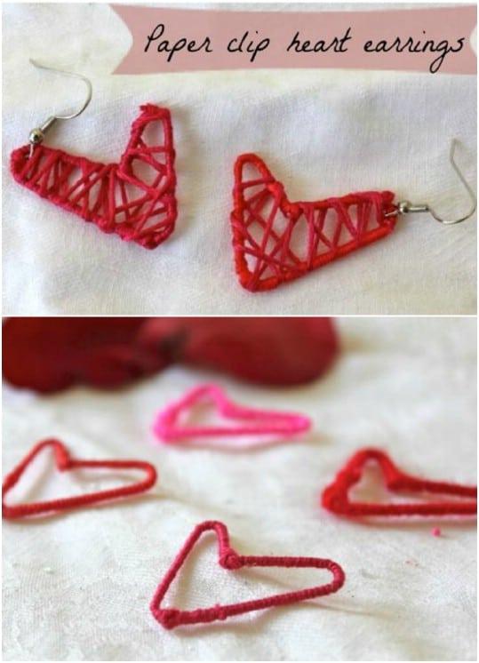 DIY Paperclip Earrings