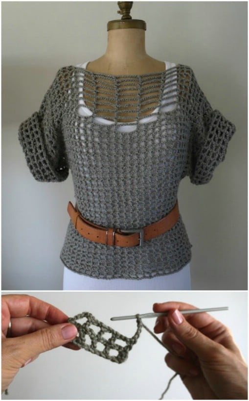 Double Stitch Crochet Summer Sweater