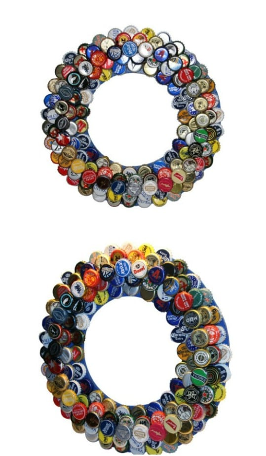 Gorgeous Bottle Cap Wreath
