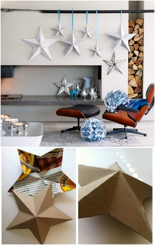 DIY Cardboard Christmas Star