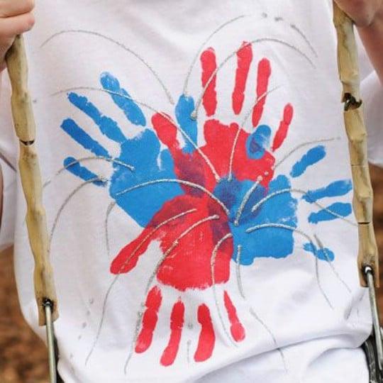 Handprint Fireworks T-Shirt