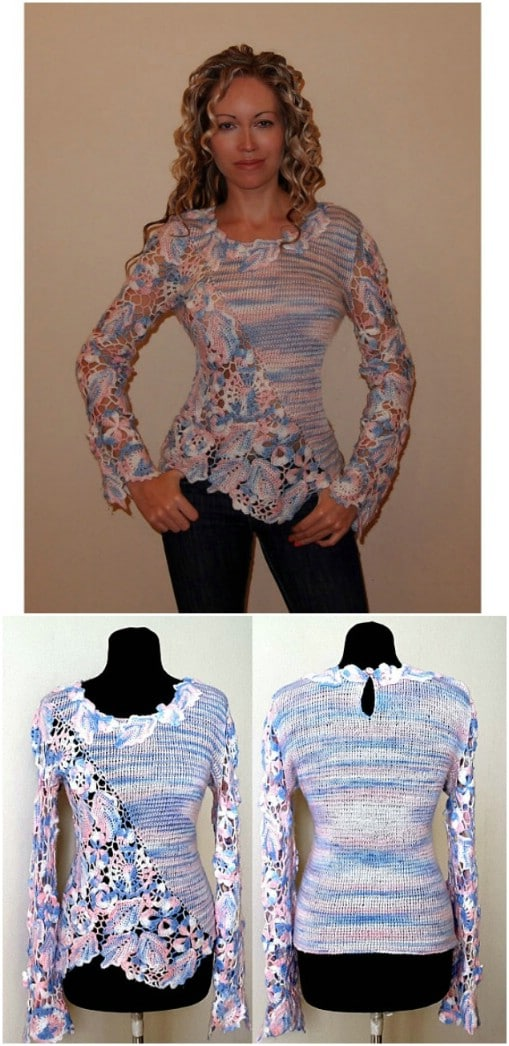 8056cc367 30 Beautiful Women s Sweaters And Tops You Can Knit Or Crochet ...