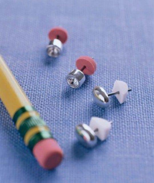 Pencil Eraser Earring Backs