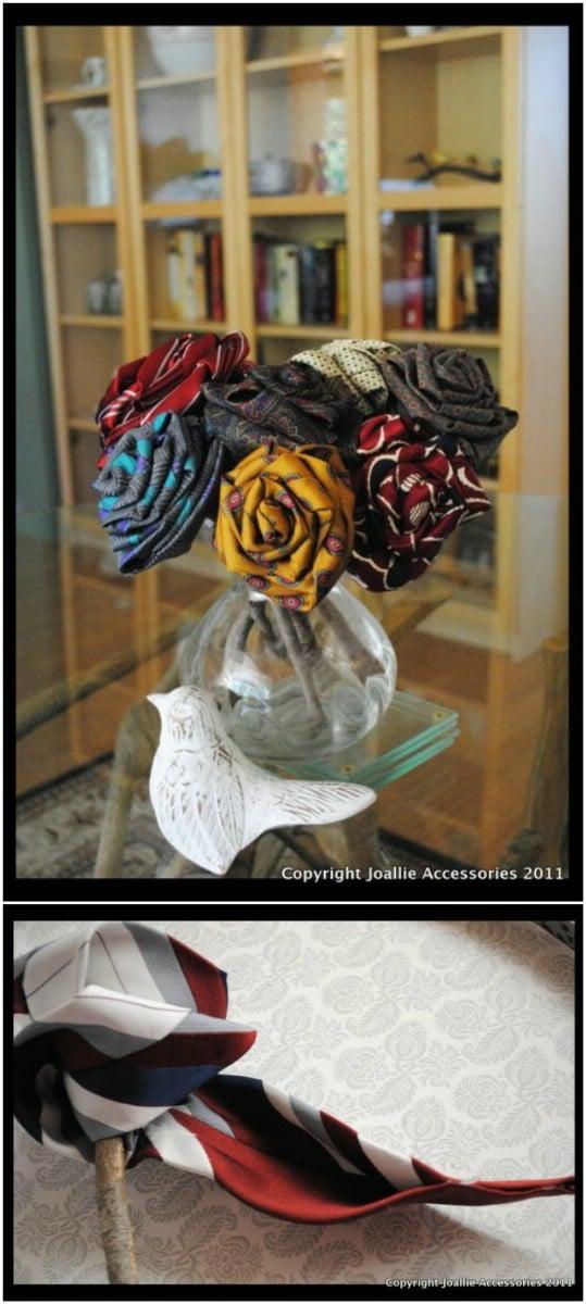 Gorgeous DIY Silk Tie Flowers