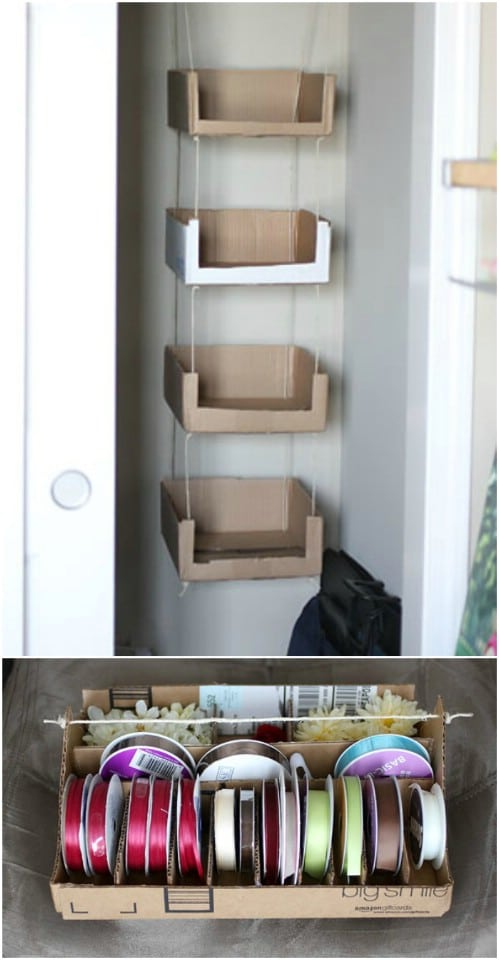 35 brilliant diy repurposing ideas for cardboard boxes diy crafts 15 recycled cardboard craft storage solutioingenieria Choice Image