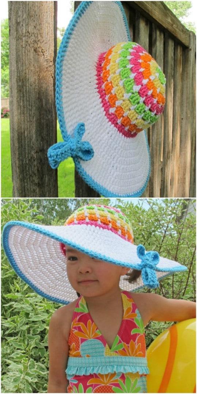 Easy Crochet Floppy Beach Hat