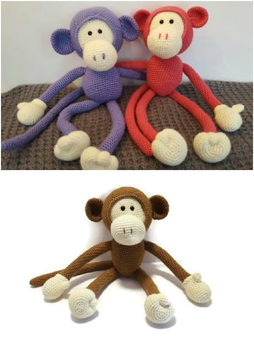 Handmade Crocheted Monkey