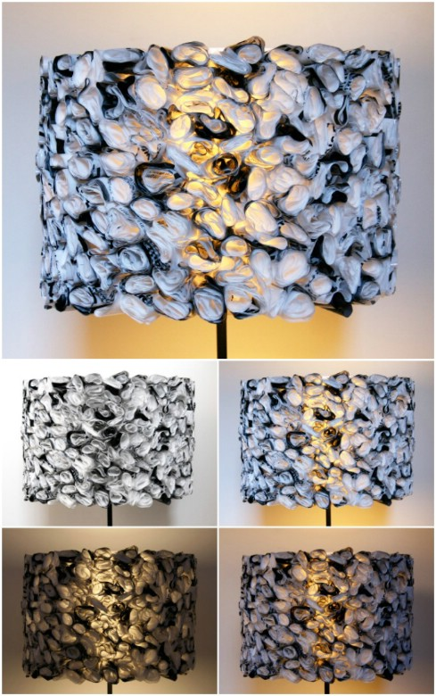 Upcycled Plastic Bag Lampshade