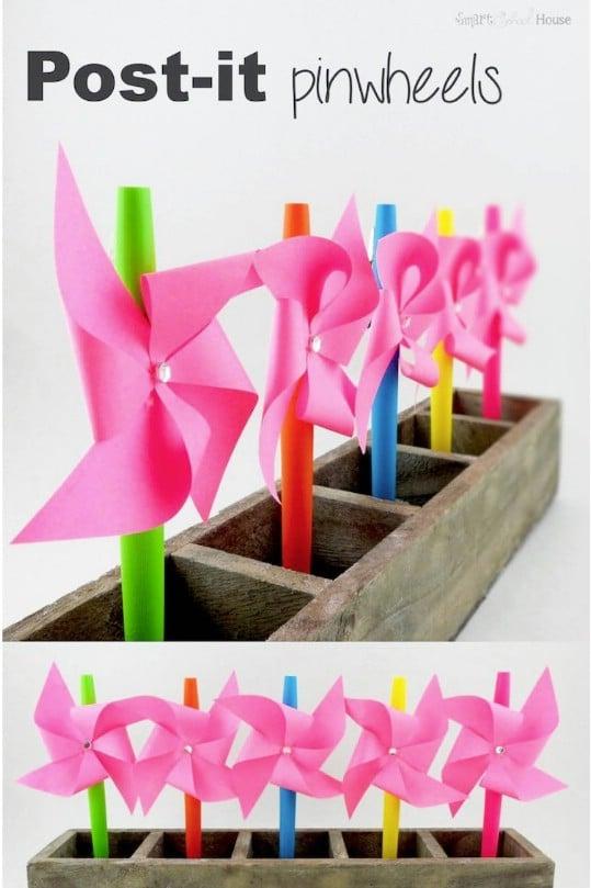 Cute Post It Pinwheels