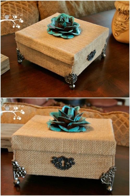 boxes decorate recycled diy decor crafts burlap repurposing ideas cardboard box brilliant decorative for repurpose