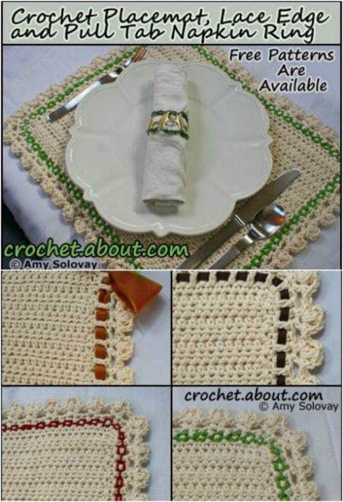 Easy Half Double Crochet Placemat