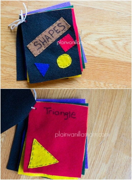 DIY Little Felt Book Of Shapes