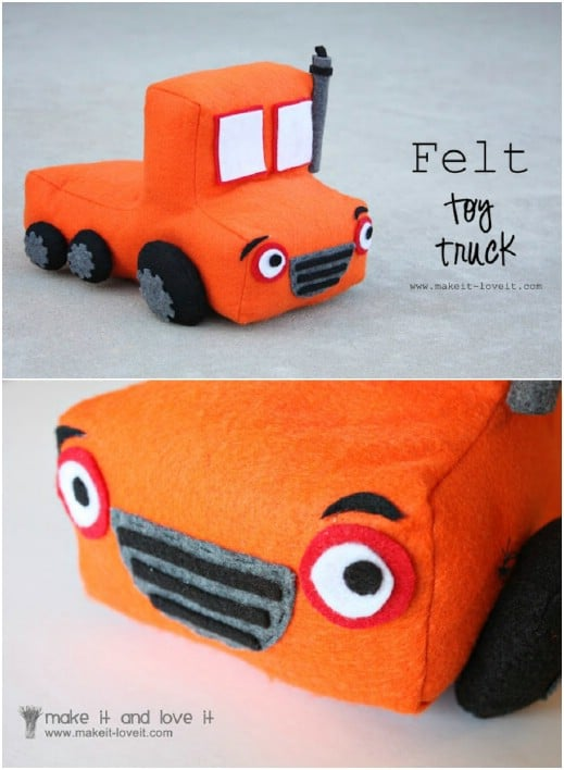 DIY Toy Truck From Felt