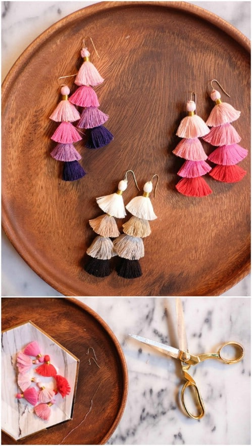 Multicolor DIY Tassel Earrings
