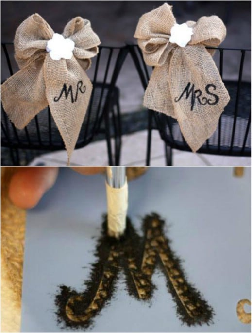 Burlap And Lace Chair Décor