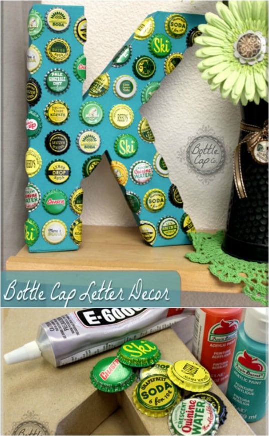 Giant Vintage Bottle Cap Letter