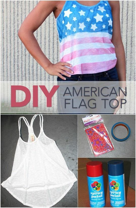 Easy American Flag Tank Top