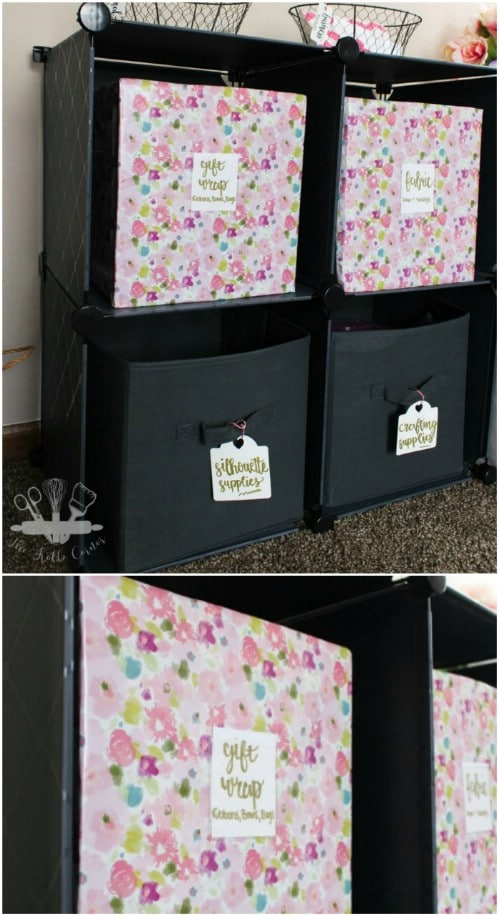 Upcycled Cardboard Decorative Storage