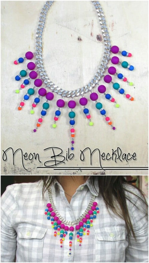 Bright Neon Bib Necklace