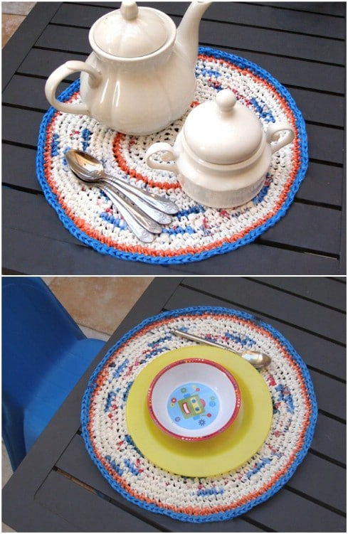 Easy Crocheted Plastic Bag Placemats