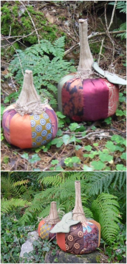 DIY Posh Necktie Pumpkins