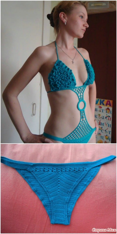 Simple One Piece Crochet Swimsuit