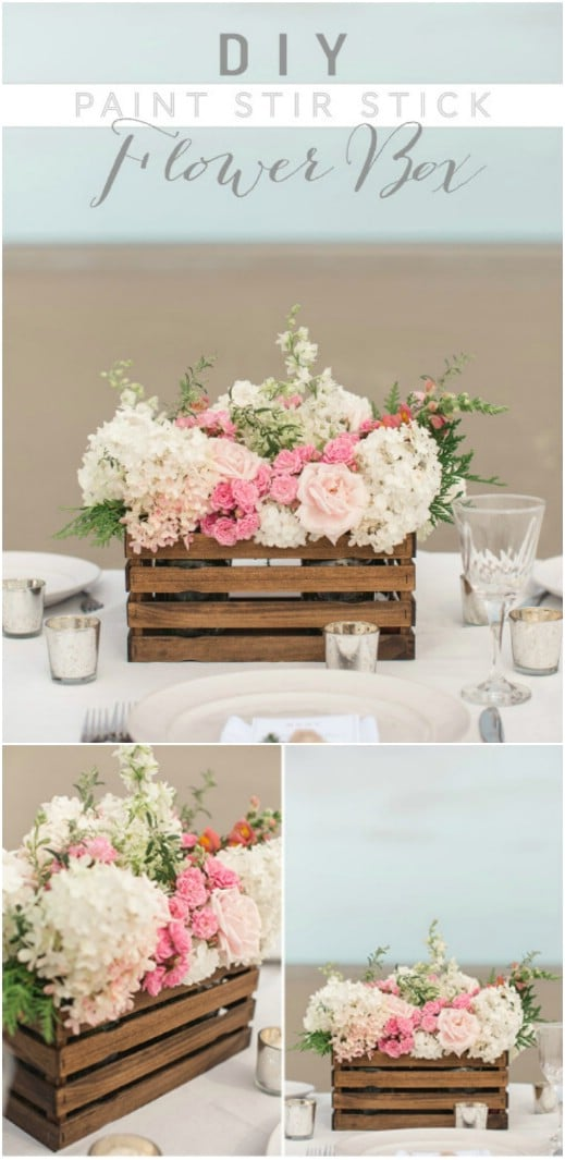 DIY Rustic Flower Crate