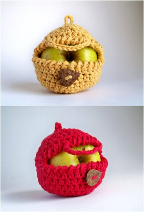 Crochet Apple Cozy