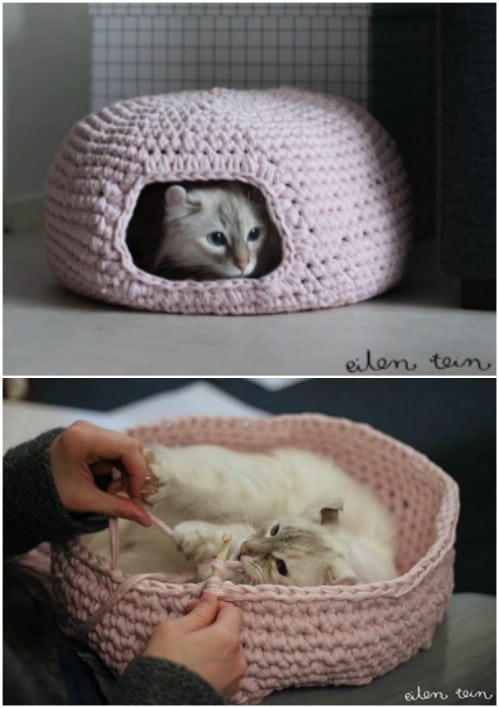 Crochet Cat Nest